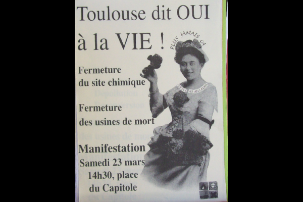 affiche manif AZF 1, Toulouse, mars 2002