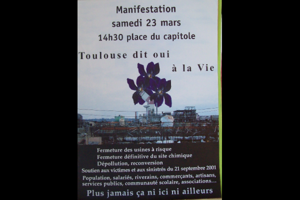 affiche manif AZF 2, Toulouse, mars 2002
