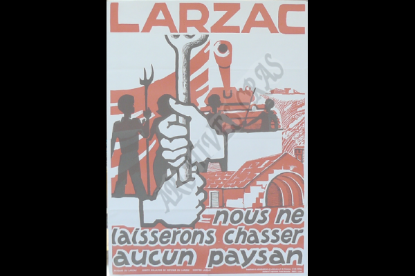 affiche chasser paysans larzac