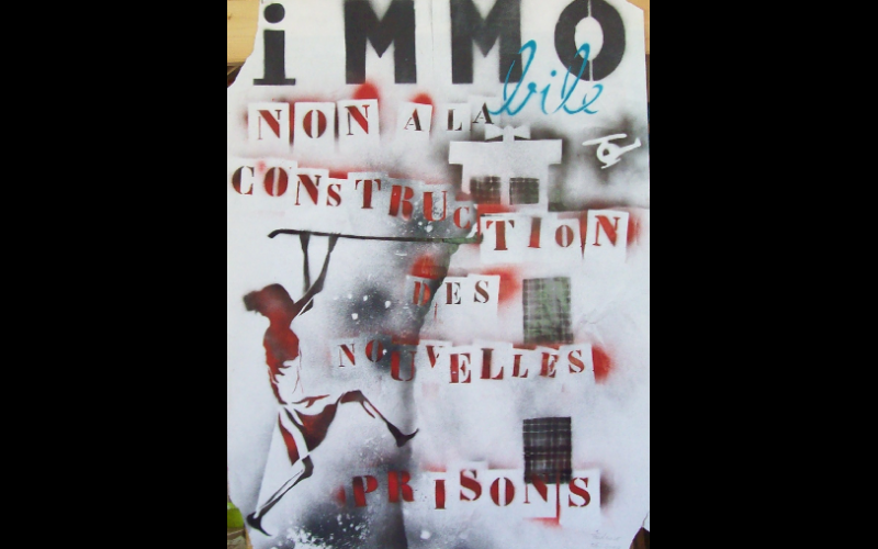 affiche contre construction prisons, Toulouse