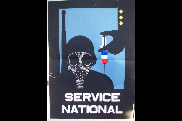 affiche service national seringue