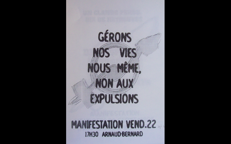 affiche manif anti-expulsion squat 2, Toulouse, 2000