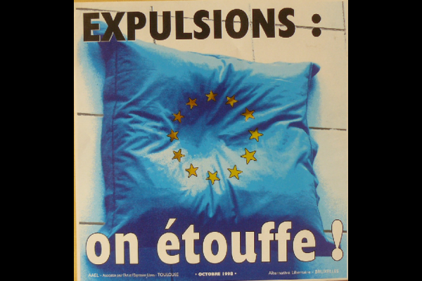 affiche expulsions on etouffe, AAEL Toulouse, 1998