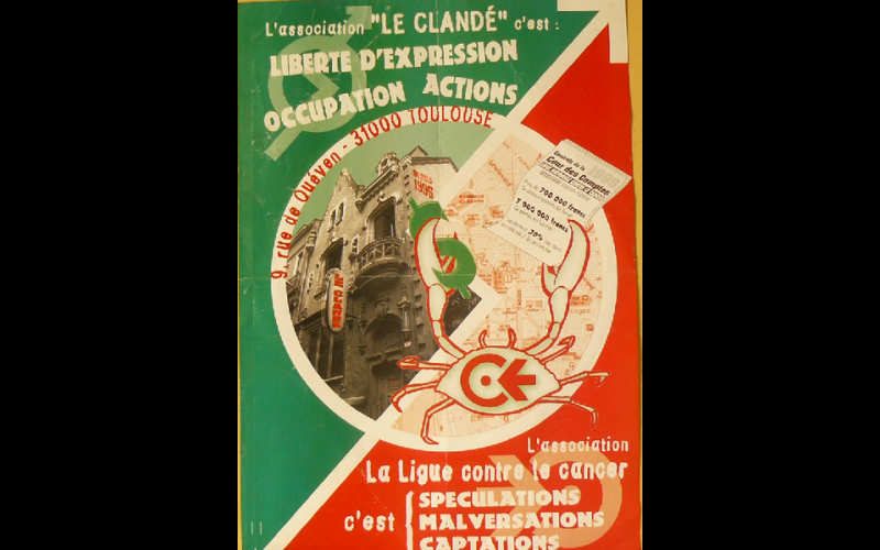 affiche anti-expulsion Clandé, Toulouse, 2000