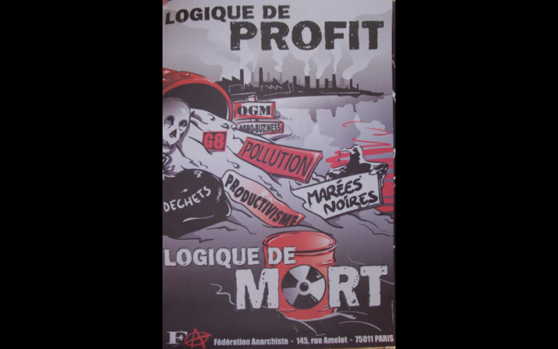 affiche anti-pollution, Fédération Anarchiste