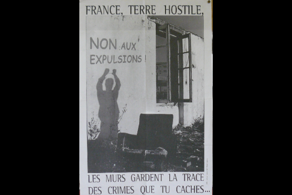 affiche France terre hostile, AAEL, Toulouse, 2007, 45x60