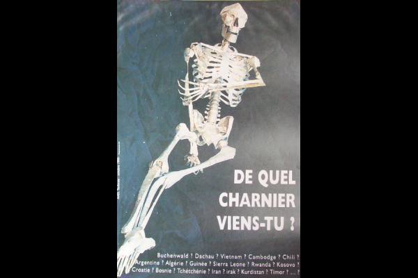 affiche charniers, AAEL, Toulouse, 1999