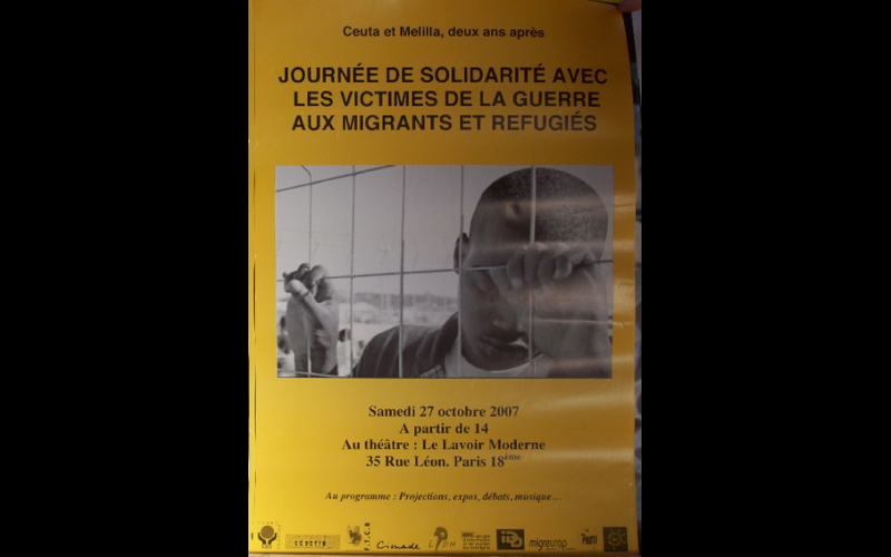 affiche journée solidarité migrants Paris, 2007