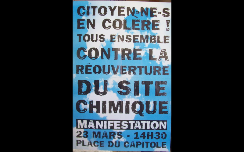 affiche manif AZF 3, Toulouse, mars 2002