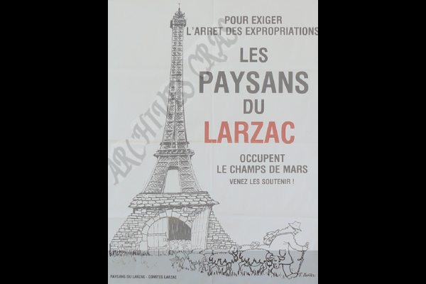 affiche larzac occupation champ de mars