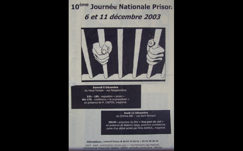 affiche journée nationale prison, Toulouse, 2003