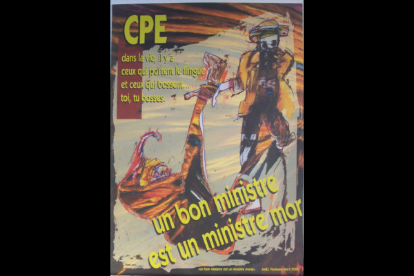 affiche anti-CPE AAEL, Toulouse, 2006