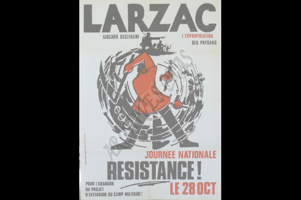 affiche journee nationale larzac