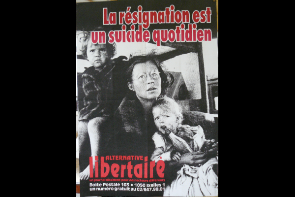 affiche Alternative Libertaire, Bruxelles, 45 x 60