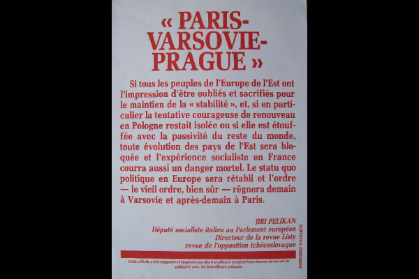 affiche Paris-Varsovie-Prague, 45x60