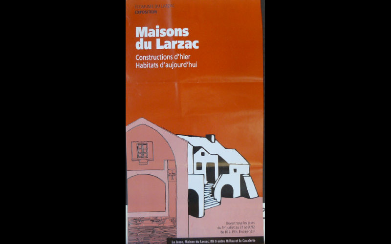 affiche expo maisons Larzac, 1992