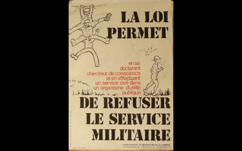 affiche objection, Bruxelles