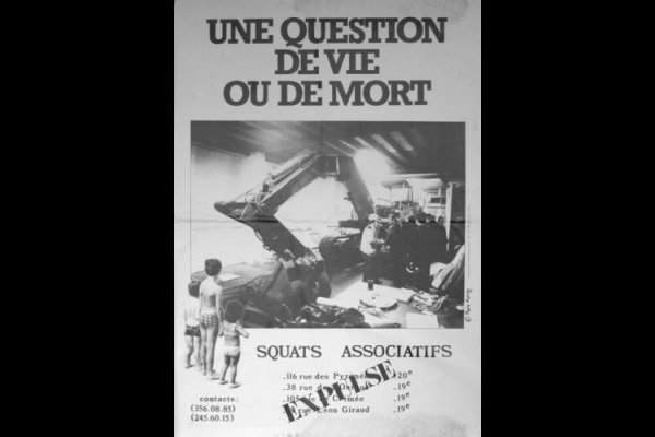 affiche squats associatifs, Paris, 65 x 92