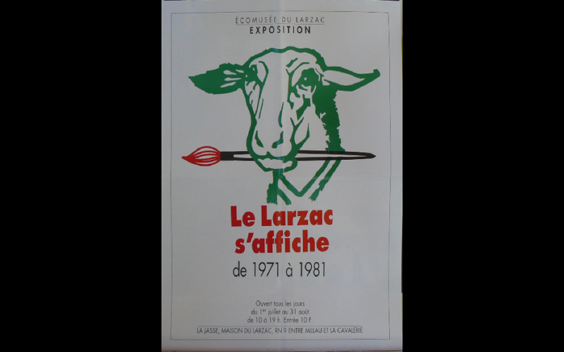 affiche expo Larzac 1971-1981