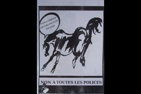 affiche police montée, Pies colleuses, Toulouse
