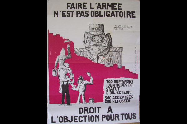 affiche coordination objection collective, 1971