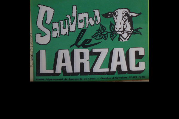 affiche sauvons le Larzac