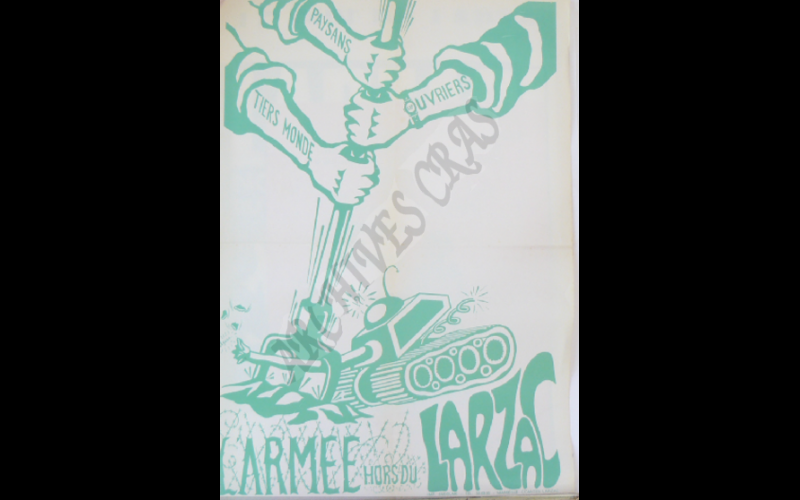 affiche armee hors du larzac
