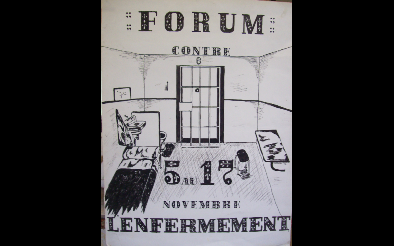 affiche forum contre l'enfermement Toulouse, 1982