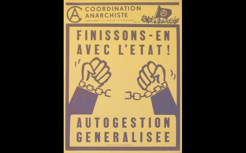 affiche Coordination Anarchiste, Paris, 40 x 60