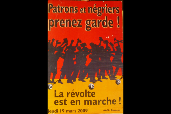 affiche patrons-negriers, AAEL, Toulouse, 2009