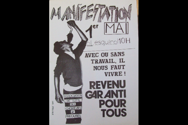 affiche manif chomeurs Toulouse, 1998