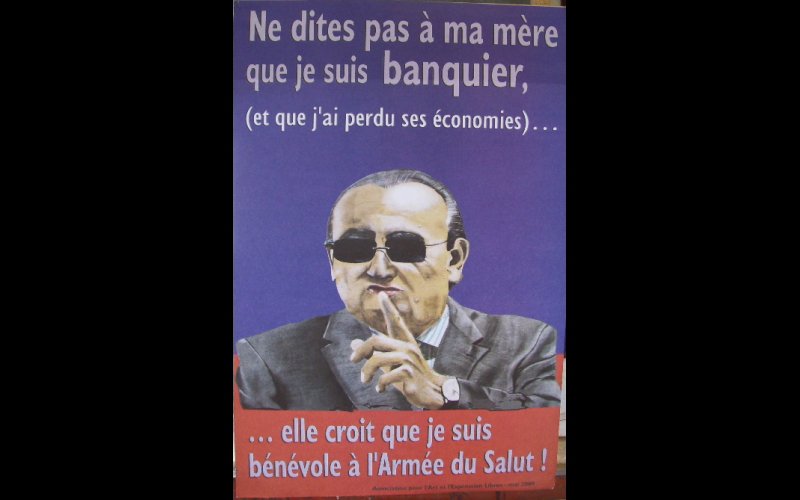 affiche banquiers, AAEL, Toulouse, 2009, 45 x 60
