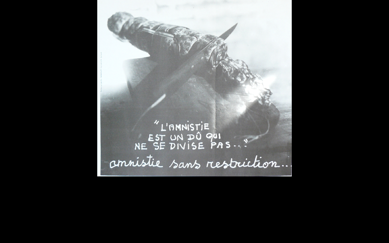 affiche amnistie sans restriction, 1981