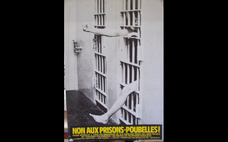 affiche contre les prisons, Alternative Libertaire, Bruxelles
