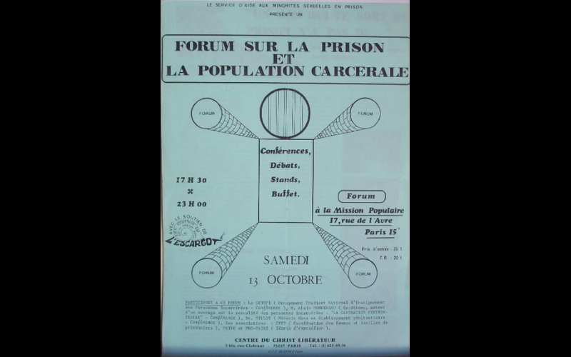 affiche forum prison, Paris
