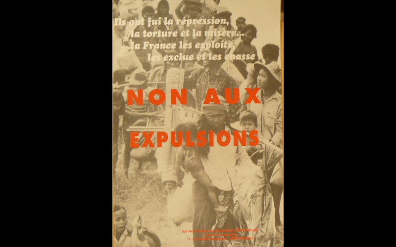 affiche anti-expulsions, Bordeaux