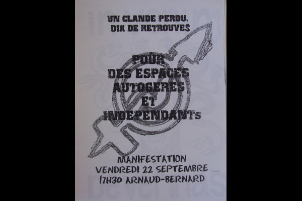 affiche manif anti-expulsion squat 3, Toulouse, 2000