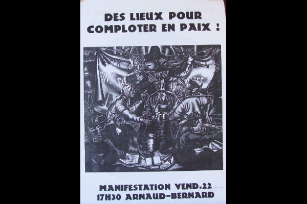 affiche manif anti-expulsion squat 4, Toulouse, 2000