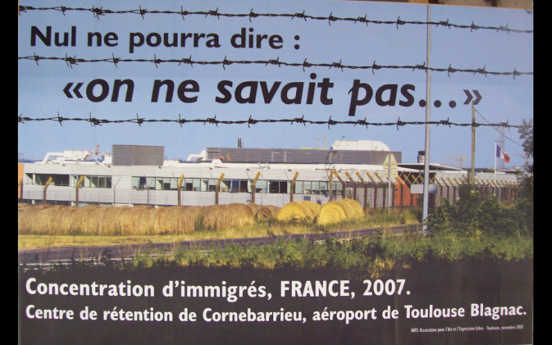 affiche contre centre de rétention, AAEL, toulouse, 2007, 45x60