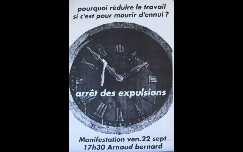 affiche manif anti-expulsion squat 5, Toulouse, 2000