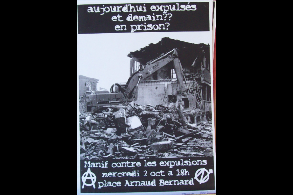affiche manif anti-expulsions squat, Toulouse, 2000