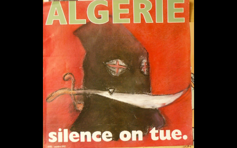 affiche Algerie silence on tue, AAEL, Toulouse, 1997