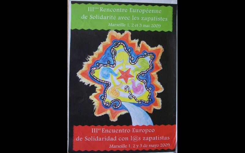 affiche rencontres zapatistes, Marseille, 2009