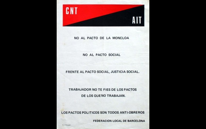 N° 263 CNT - AIT Federacion local de Barcelona 1977 Mf Esp. 32x44
