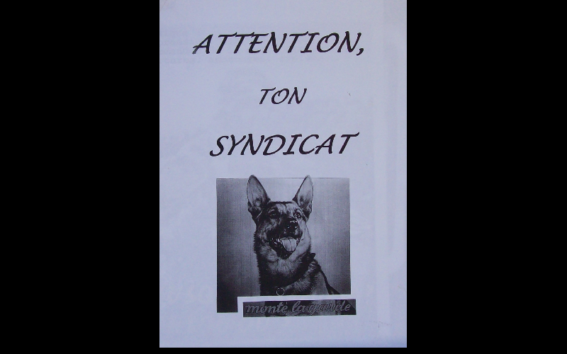 affiche anti-syndicat